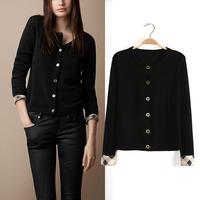 FS2485 S/M/L European Style full sleeve v-neck Collar Knitting cardigan