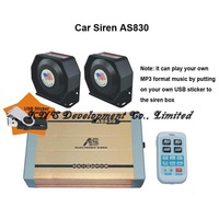 S830 400W car siren with microphone 20 sounds (400W siren + 2 X 200W speaker+MP3play function)..Free Shipping