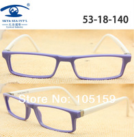 New 2014 MOQ 1 Piece Retail Brand Design Purple White without lens Eye Glasses Frames for Women