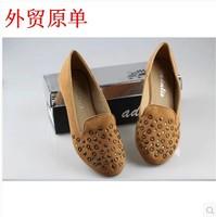 New 2014 Comfortable fashion all-match metal rivet decoration flat single shoes plus size women's shoes