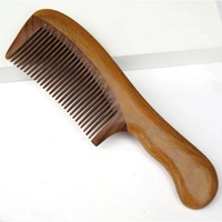 Natural green sandalwood combs anti-static anti-hair loss massage health comb