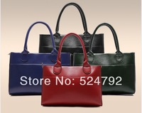 2014 New Free Shipping  brand composite cow leather totes Croco modern design women handbags