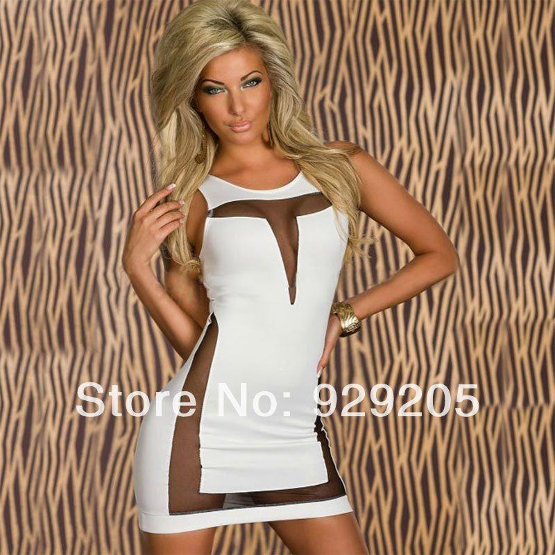 Alibaba express women's hippi dress sexy clubwea sleeveless bandage dress prom snow white dress1008(China (Mainland))