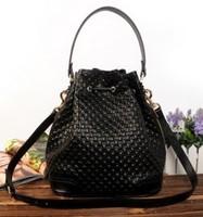 2014 new vintage genuine leather bucket handbags leisure fashional embossed leather bag free shipping B-61