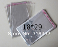E4 Clear Resealable Cellophane/BOPP/Poly Bags 18*29cm  Transparent Opp Bag Packing Plastic Bags Self Adhesive Seal