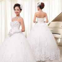 2014 new wedding dress/princess tube top dress/ bandage wedding dress
