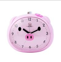free shipping Cartoon pig fat alarm clock double child alarm clock voice super mute alarm clock belt light alarm clock