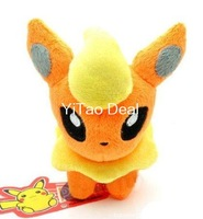 Free shipping 6-inch Flareon Plush Doll Around 12cm
