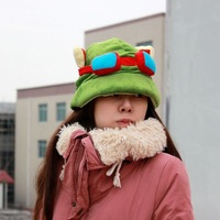 Free shipping 10pcs/LOT Hot Sale Teemo Cosplay Cute Plush Cotton HAT Cap for Adult Hats,anime hat EW-H-AP-011