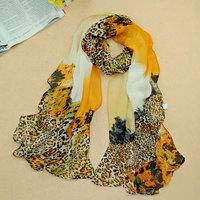 2014 New fashion leopard print scarf women's autumn and winter silk shawl wrap warm scarves