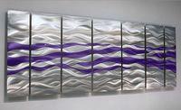 Modern Metal Abstract Wall Art Decor Sculpture - Caliente Purple - Jon Allen