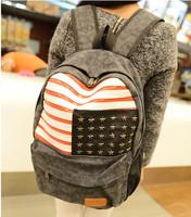 canvas backpacks women spring 2014 Fashion trends laptop printing bagpack rivets