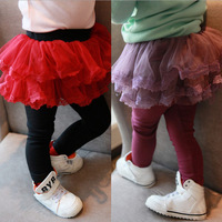 Free shipping Retail 1pc Girls' Leggings Children's skirt Girls Skirt-pants Cake skirt Girl's pants