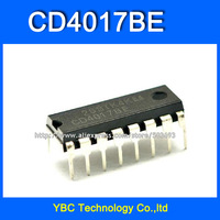 Free Shipping 100pcs/lot CD4017 CD4017BE  DIP-16 Decimal counter CD Logic IC