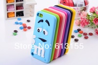 For Ipod Touch 5 Touch5 case,New Arrive Soft Smile Rainbow Bean Cover Back Case For Ipod Touch 5 Touch5 case Free Shipping