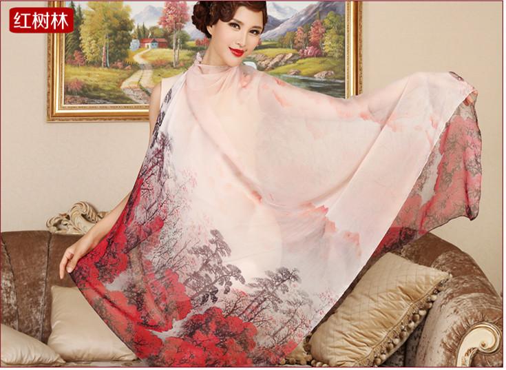 Женский шарф 100% 1,8 sillk
