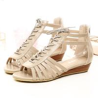 Millenum women's shoes zonegruppen package with wedges zipper open toe sandals size 34-43