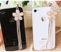 Free Shipping - wholesale dust plug min order 15usd 3.5mm Korean cherry tassel mobile phone dustproof plug