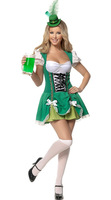 German beer cafe waiter serving maid outfit Luck of the Irish Gal sex costumes dress 8766-2 , free shipping