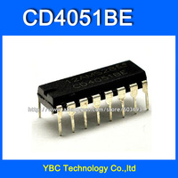 Free Shipping 50pcs/lot CD4051 CD4051BE HCF4051 HEF4051 DIP-16 CD Logic IC