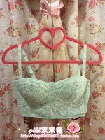 Fashion lace slim tube top tube top small corset basic spaghetti strap vest white