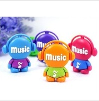 Fashion music usb flash drive recessionista 16g personality cartoon usb flash drive 16gu plate gift