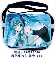 FREE SHIPPING! Japan anime VOCALOID MIKU wholesale PU shoulder bag Messenger Bag school bag