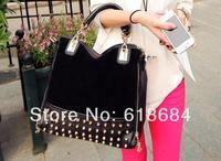 Whole Sale Korean Version Of The Retro Fashion Handbags Casual Shoulder Bag Hand Bag Matte Rivets Handbags