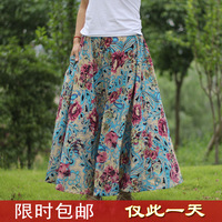 2014 spring and summer new arrival women's bohemia expansion bottom linen bust skirt beach fluid full  summer skirt