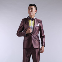2014  suit fashion slim suits the groom men's formal wedding dress  for men
