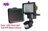 Hot sales Solar 60LED flood light with PIR Motion Sensor free shipping
