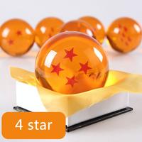 Free Shipping!Japanese Anime Dragon Ball Four/4 Star Crystal Ball Big 7CM Resin Crystal Ball In Box Kids Friend Birthday Gift