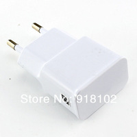 free shipping 5V 2A USB Wall charger for Samsung Galaxy S4 I9500 S3 iphone 5 5s 4 4s EU Plug mobile phone charger black white