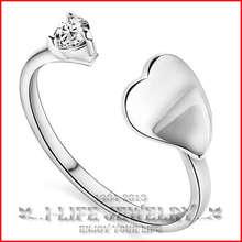 2014 moda prata esterlina 925 japão coréia do sul anéis feito de pedra com pedra para Lady(China (Mainland))