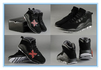 Wholesale 3 Colorways Famous Trainers Retro 10 X Men's Sports Basketball Shoes Size 7--13