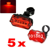 Bike Light! LED Bike Tail Rear Light Bicycle Lamp Red Flash Safety Caution 5 LED