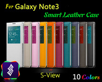 50pcs/lot Galaxy Note III 3 smart flip cover PU leather case, with sleep function, smart dormancy and wake up support.