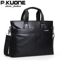 Leather bag business bag first layer of cowhide man bag genuine horizontal leather cross-body handbag briefcase