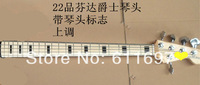 2014 new + factory + FD Marcus Miller 5 strings jazz bass neck silver tuning pegs maple fretboard 5 strings bass neck