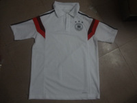 Ems free shipping new Germany polo training with Brand Logos,2014 World Cup Germany white soccer polo ,Thai quality, Mixed order