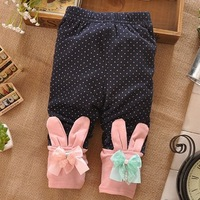 spring and autumn baby girls leggings,0-3 old year,kids Dot Print lace bow cotton leggings pants,4pcs/lot  K771