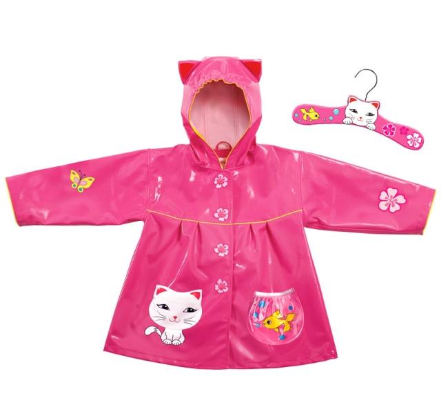 Дети студент плащ комикс немного cat девочка женское дети пончо лаки cat розовый пончо
