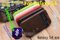 50pcs/lot Galaxy S4 flip cover PU leather case, with metal buckle, i959 i9502 i9505 i9500 i9508 case, wholesale shenzhen