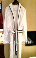cotton velvet pile jacquard bathrobe