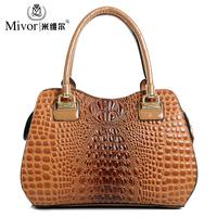 For EverU 2014 women's spring shoulder  handbag  crocodile pattern messenger bag