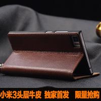 Luxury busniess genuine leather flip cover case for xiaomi mi3 m3 , xiaomi mi3 lichi skin leather case ,