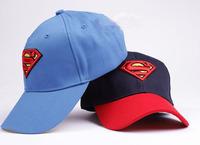 Retail  5 pcs New 2 colors cotton Boys girls  unsex kids baby children Superman caps baseball   hats