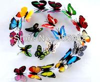 New Wholesale 72pcs 7cm Artificial Butterfly Fridge Magnet Home Wedding Decoration