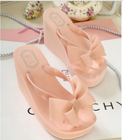 2014 New Hot Bow High-Heeled Sandals Flip Flops Sandals Muffin  *299