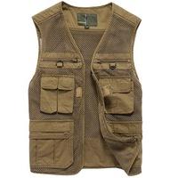 2014 spring and summer men's cotton vest outdoor multi pocket fishing vest Photography